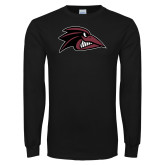Black Long Sleeve T Shirt-Raven Head