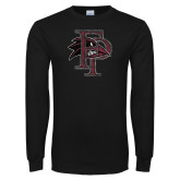 Black Long Sleeve T Shirt-Athletic FP Distressed