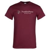 Maroon T Shirt-FP Athletics Horizontal