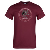Maroon T Shirt-FP Athletics Circle