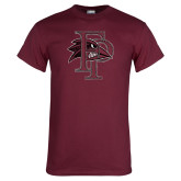 Maroon T Shirt-Athletic FP Distressed
