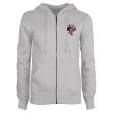ENZA Ladies Grey Fleece Full Zip Hoodie-Athletic FP