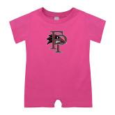 Bubble Gum Pink Infant Romper-Athletic FP
