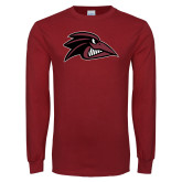 Cardinal Long Sleeve T Shirt-Raven Head