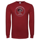 Cardinal Long Sleeve T Shirt-FP Athletics Circle