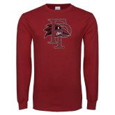 Cardinal Long Sleeve T Shirt-Athletic FP Distressed