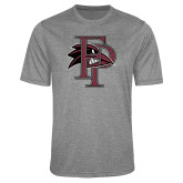 Performance Grey Heather Contender Tee-Athletic FP