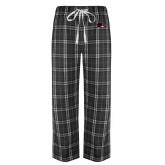 Black/Grey Flannel Pajama Pant-Raven Head
