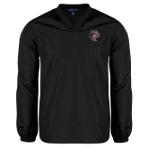 V Neck Black Raglan Windshirt-Athletic FP