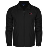 Full Zip Black Wind Jacket-Raven Head