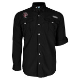 Columbia Bahama II Black Long Sleeve Shirt-Athletic FP
