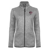 Grey Heather Ladies Fleece Jacket-Athletic FP