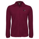 Fleece Full Zip Maroon Jacket-Raven Head
