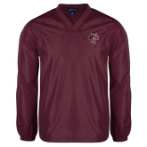 V Neck Maroon Raglan Windshirt-Athletic FP