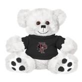 Plush Big Paw 8 1/2 inch White Bear w/Black Shirt-Athletic FP