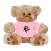 Plush Big Paw 8 1/2 inch Brown Bear w/Pink Shirt-Athletic FP