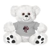 Plush Big Paw 8 1/2 inch White Bear w/Grey Shirt-Athletic FP