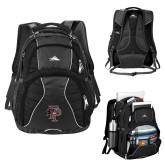 High Sierra Swerve Black Compu Backpack-Athletic FP