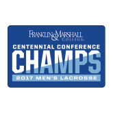 Medium Decal-2017 Centennial Conference Champions Mens Lacrosse