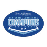 Medium Decal-2017 Centennial Conference Champions Softball, 8 inches wide