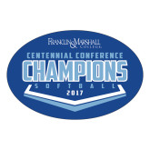 Large Decal-2017 Centennial Conference Champions Softball, 12 inches wide