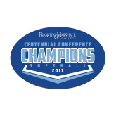 Small Decal-2017 Centennial Conference Champions Softball, 6 inches wide