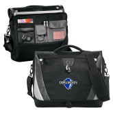 Slope Black/Grey Compu Messenger Bag-Diplomats Official Logo
