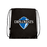 Nylon Black Drawstring Backpack-Diplomats Official Logo