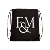Nylon Black Drawstring Backpack-F&M