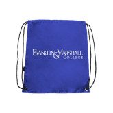Nylon Royal Drawstring Backpack-Franklin & Marshall College