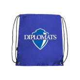 Nylon Royal Drawstring Backpack-Diplomats Official Logo