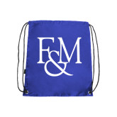 Nylon Royal Drawstring Backpack-F&M