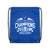 Nylon Royal Drawstring Backpack-2017 Centennial Conference Champions Womens Lacrosse