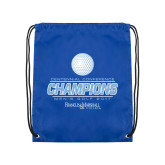 Nylon Royal Drawstring Backpack-2017 Centennial Conference Champions Mens Golf