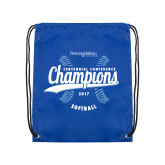 Nylon Royal Drawstring Backpack-2017 Centennial Conference Champions Softball