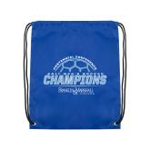 Royal Drawstring Backpack-2017 Mens Soccer Champions