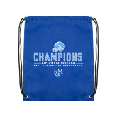 Royal Drawstring Backpack-2017 Football Champions