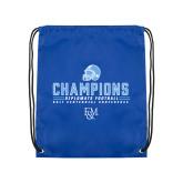 Royal Drawstring Backpack-2017 Football Champions