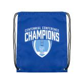 Royal Drawstring Backpack-2017 Football Champions Stacked w/ Football Vertical