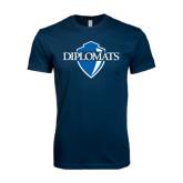 Next Level SoftStyle Navy T Shirt-Diplomats Official Logo