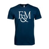 Next Level SoftStyle Navy T Shirt-F&M