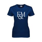 Ladies Navy T Shirt-F&M