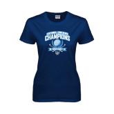 Ladies Navy T Shirt-2015 Centennial Conference Golf