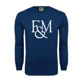 Navy Long Sleeve T Shirt-F&M
