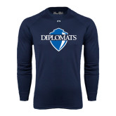 Under Armour Navy Long Sleeve Tech Tee-Diplomats Official Logo