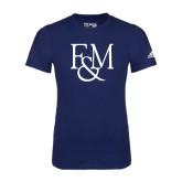 Adidas Navy Logo T Shirt-F&M