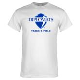 White T Shirt-Track & Field