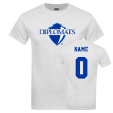 White T Shirt-Diplomats Official Logo, Custom Tee w/ Name and #