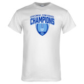 White T Shirt-2017 Football Champions Stacked w/ Football Vertical