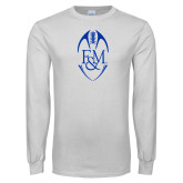 White Long Sleeve T Shirt-Tall Football Design